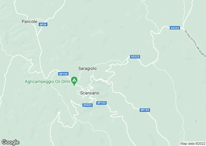 Map for Scansano, Grosseto, Tuscany