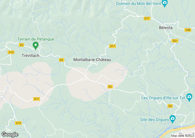 Map for montalba-le-chateau, Pyrénées-Orientales, France