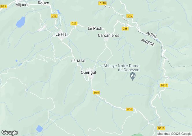 Map for Languedoc-Roussillon, , QUERIGUT
