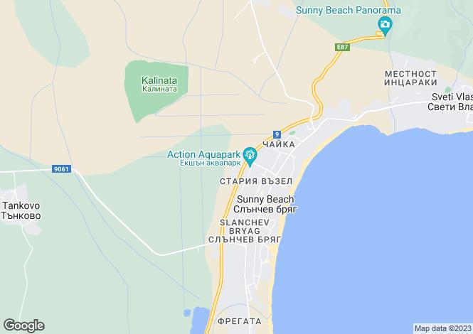 Map for Burgas, Sunny Beach