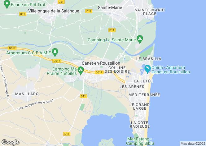 Map for Canet-en-Roussillon, Pyrénées-Orientales, Languedoc-Roussillon