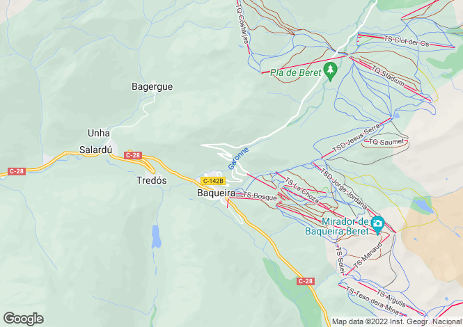 Map for Salardu, Lleida, Catalonia