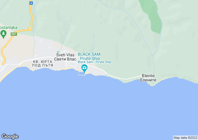Map for Sveti Vlas, Burgas
