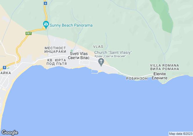 Map for Burgas, Sveti Vlas