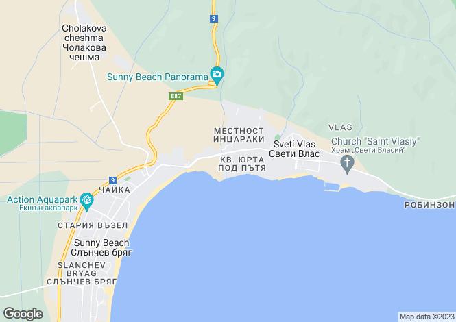 Map for Sveti Vlas, Burgas