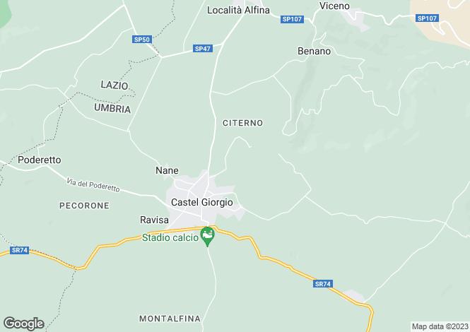 Map for Umbria, Terni, Castèl Giorgio
