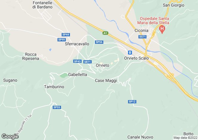 Map for Villa Fiumi, Orvieto, Umbria, Italy