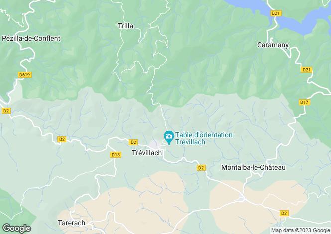Map for trevillach, Pyrénées-Orientales, France