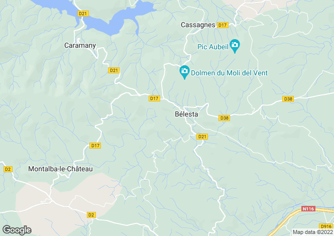Map for belesta, Pyrénées-Orientales, France