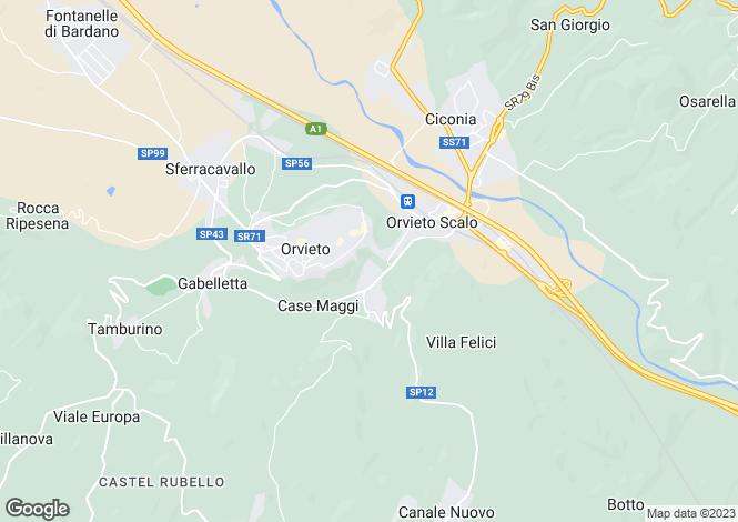Map for Str. Fontana del Leone, Orvieto, Umbria