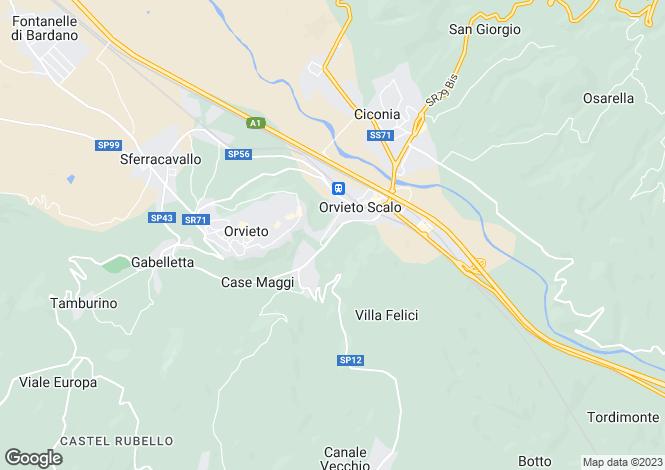 Map for Str. Bagnorese, Orvieto, Umbria