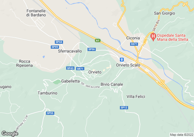 Map for Via degli Orti, Orvieto, Umbria
