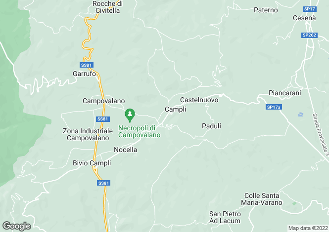 Map for Abruzzo, Teramo, Campli