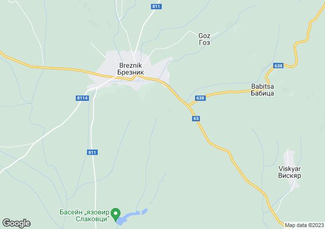 Map for Pernik, Breznik