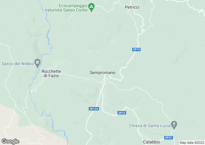 Map for Tuscany, Grosseto, Semproniano