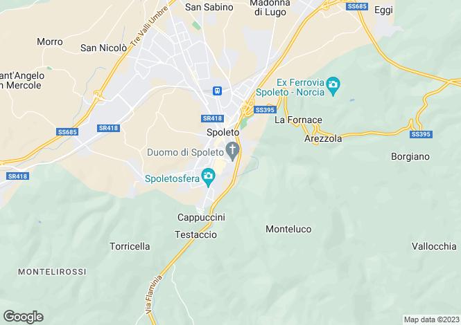 Map for Italy - Umbria, Perugia, Spoleto