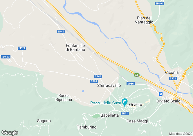 Map for SP44, Orvieto, Umbria