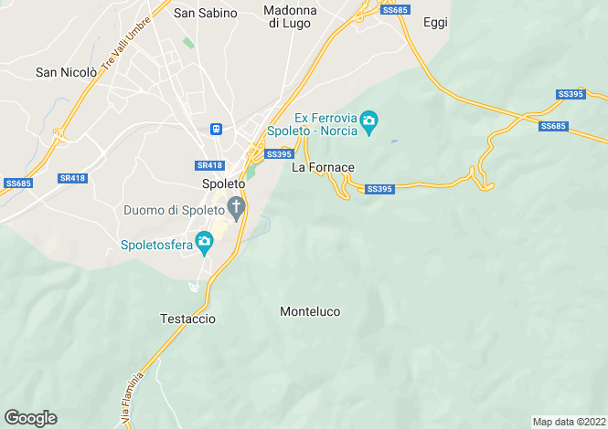 Map for Umbria, Perugia, Spoleto