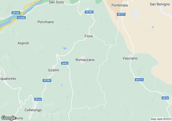Map for Umbria, Perugia, Todi