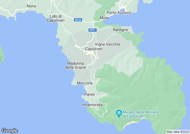 Map for Tuscany, Isola D'elba, Capoliveri