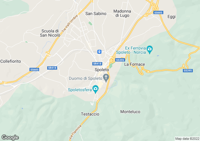 Map for Umbria, Perugia, Spoleto