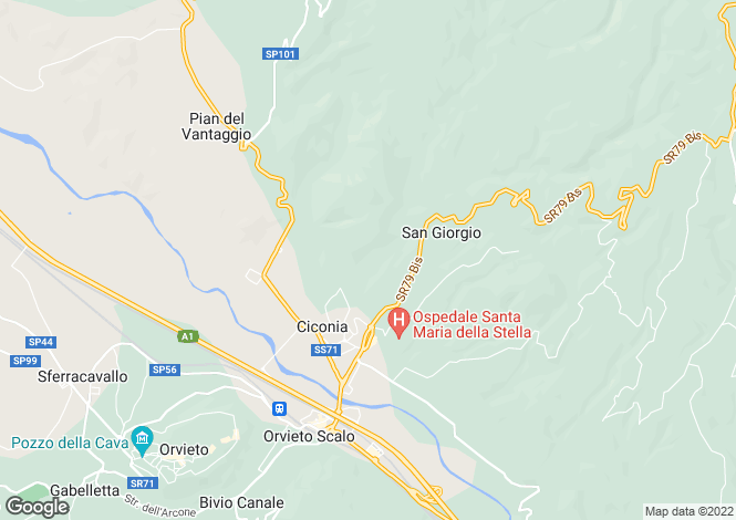 Map for Orvieto, Umbria, Italy
