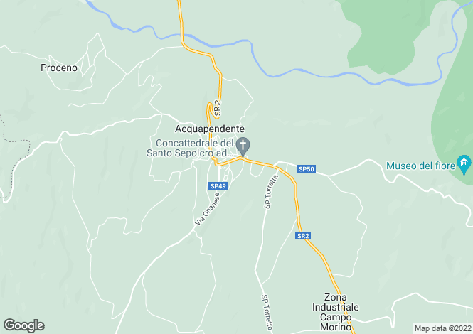 Map for Acquapendente, Viterbo, Lazio