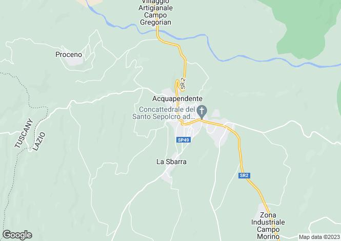 Map for Acquapendente, Viterbo, Italy