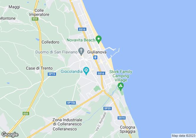 Map for Teramo, Giulianova, Abruzzo, TE64021