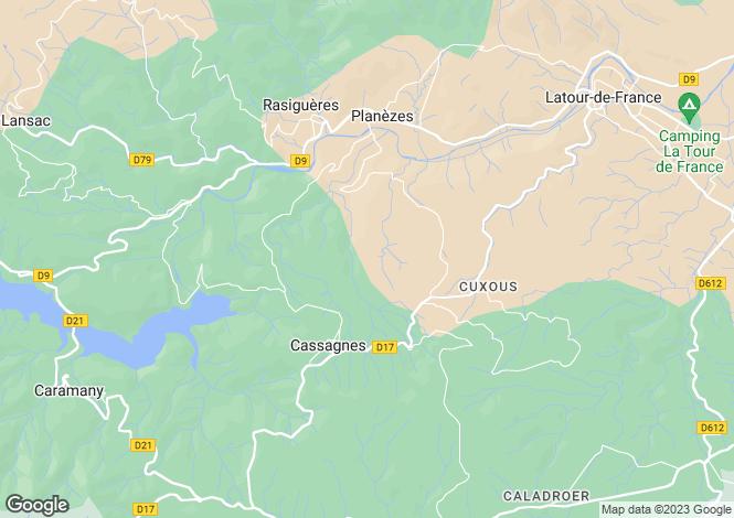 Map for cassagnes, Pyrénées-Orientales, France
