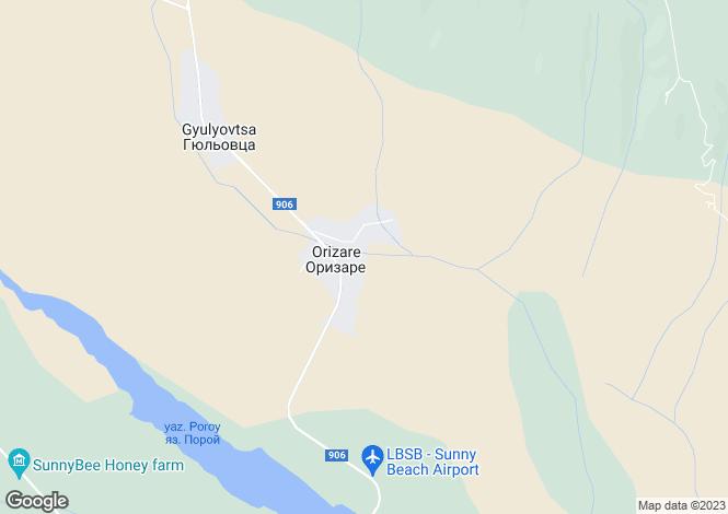 Map for Orizare, Burgas