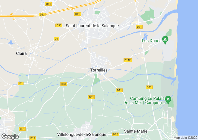 Map for Perpignan, Languedoc-Roussillon, 66440, France