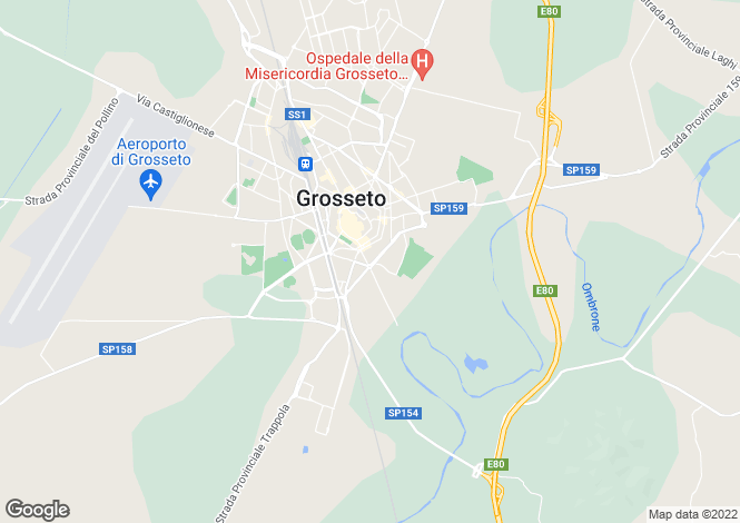 Map for Grosseto, Grosseto, Tuscany