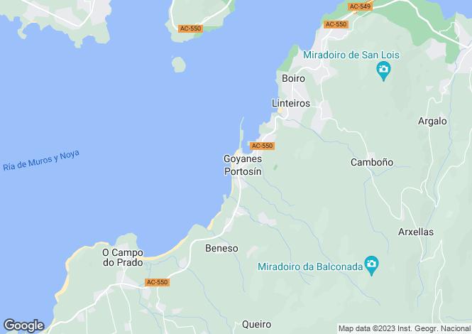 Map for Noia, A Coruña, Galicia