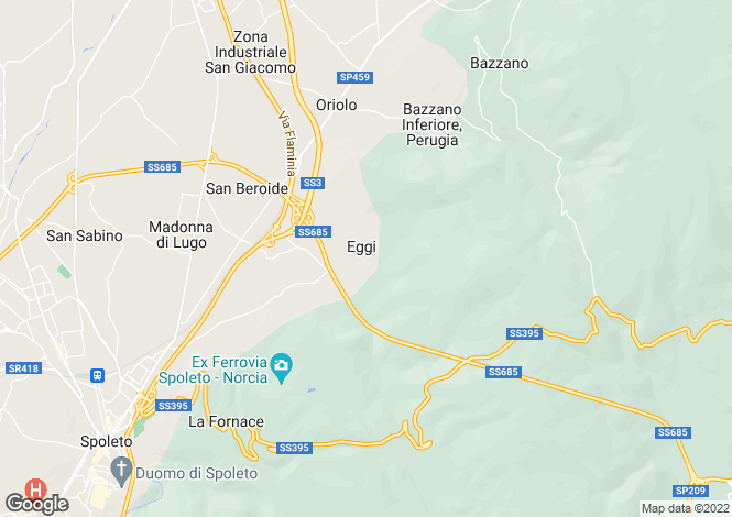 Map for Spoleto, Perugia, Umbria