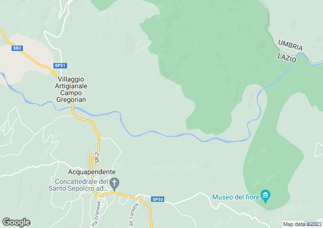 Map for Acquapedente, Viterbo, Italy