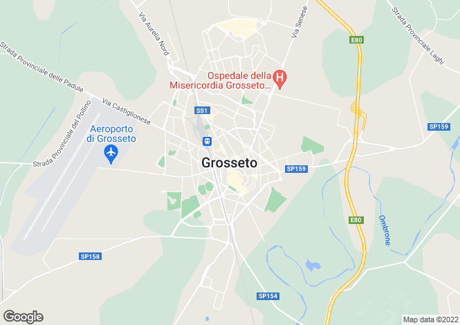 Map for Grosseto, Tuscany, Italy