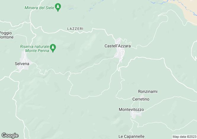 Map for Castell`Azzara, Grosseto, Tuscany