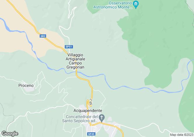 Map for Il Distinto, Trevinano, Tuscany, Italy