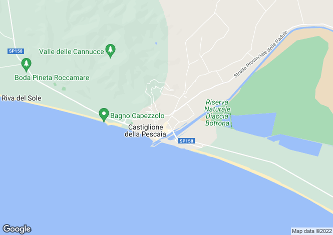 Map for Roccamare,Italy