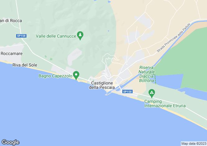 Map for Castiglione della Pescaia, Grosseto, Italy