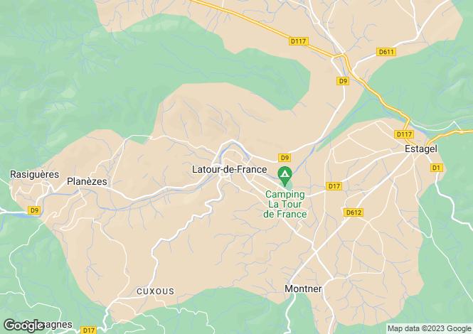 Map for Latour De France, Languedoc-Roussillon, France