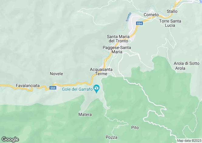 Map for Le Marche, Ascoli Piceno, Acquasanta Terme