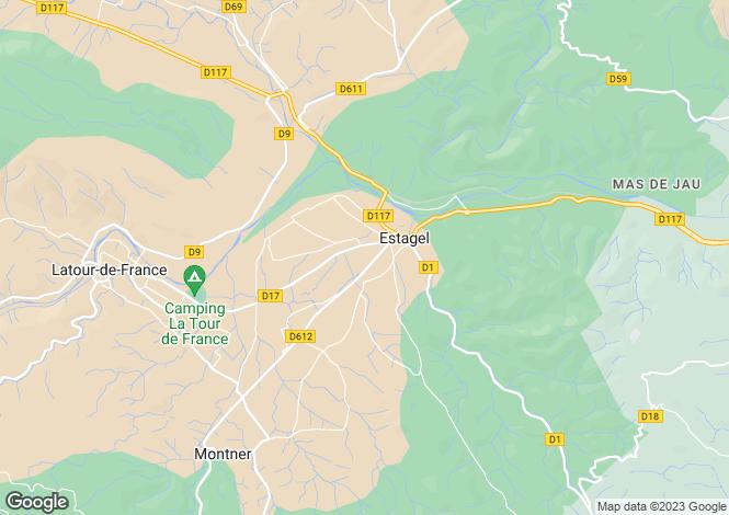 Map for Languedoc-Roussillon, Pyrénées-Orientales, Estagel