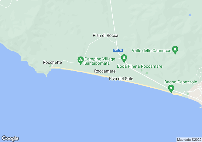 Map for Castiglione della Pescaia, Grosseto, Tuscany
