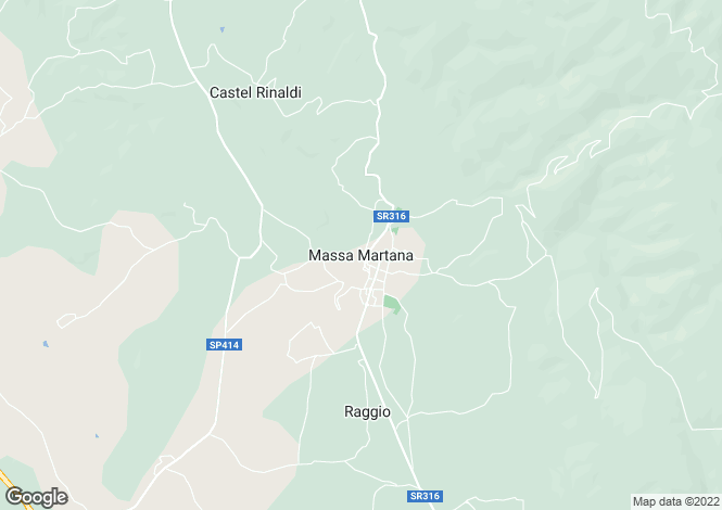 Map for Umbria, Perugia, Massa Martana