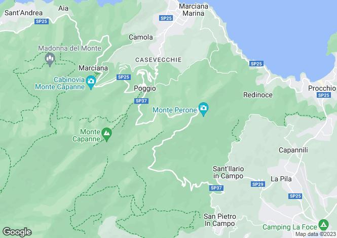 Map for Elba, Tuscany, Italy