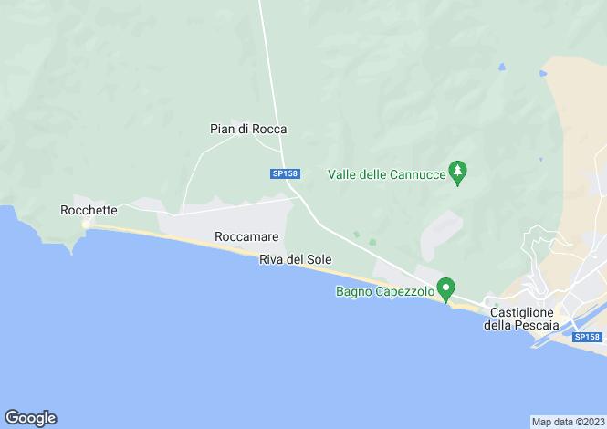 Map for Italy - Tuscany, Grosseto, Castiglione della Pescaia