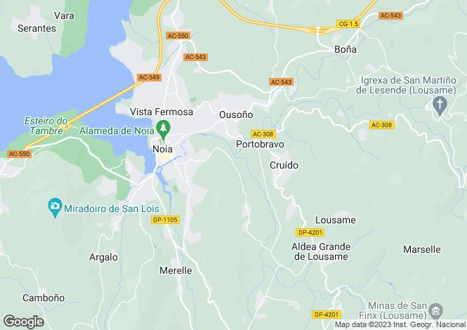 Map for Galicia, A Coruña, Noia