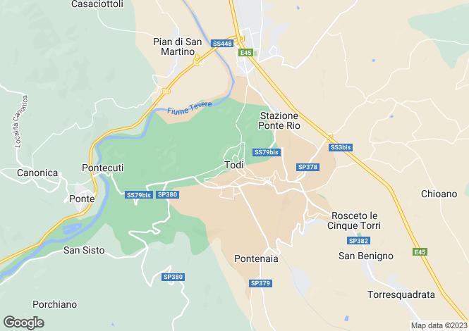 Map for Casa Todi, Todi, Umbria, Italy